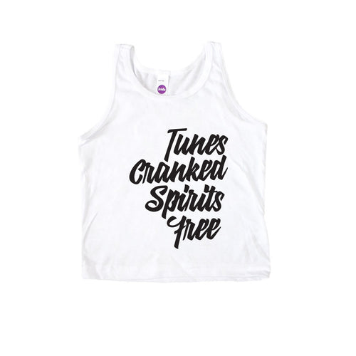 Tunes Cranked and Spirits Free Kids Tank-onesie-baby-Little Misfits-tattoo-sleeves-trendy-baby-clothes-for-boys-girls-toddler