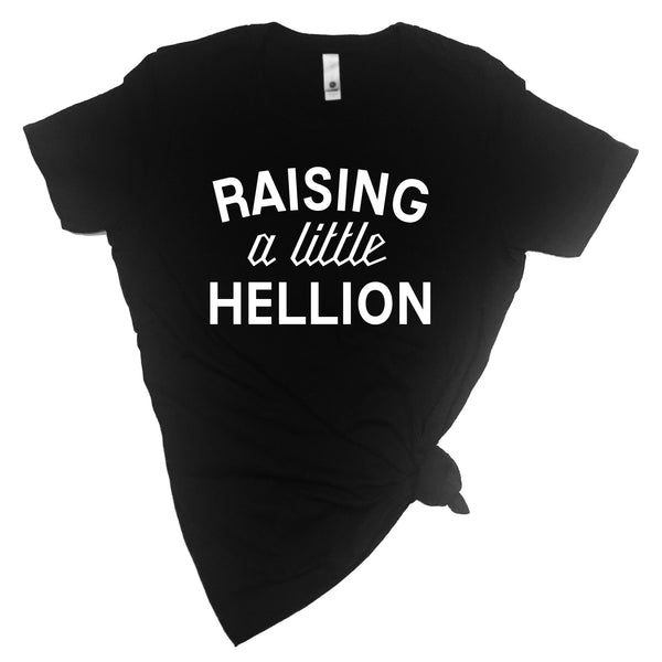 Raising a Little Hellion + Raising a Little Hell Adult T-shirt and Kid's T-Shirt Set - Mommy and Me Set-onesie-baby-Little Misfits-tattoo-sleeves-trendy-baby-clothes-for-boys-girls-toddler