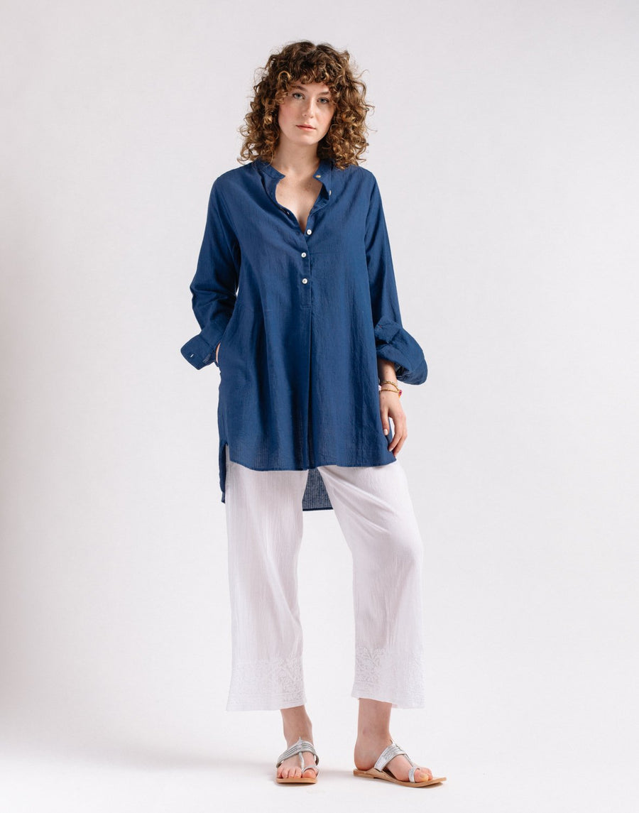 Bijal Top, Natural Indigo