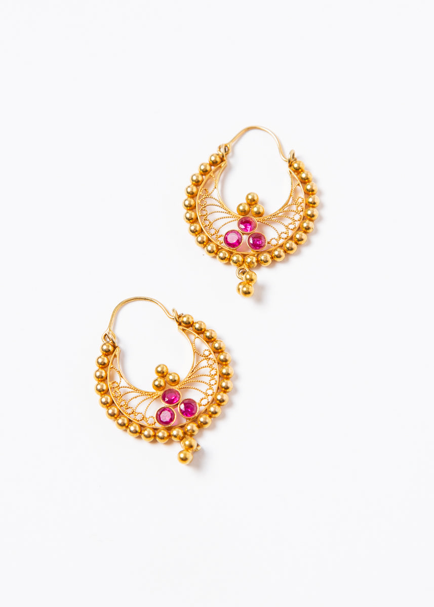 Ladakh Earrings #3 Gold 22K