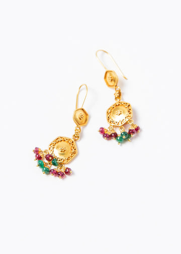 Ladakh Earrings #2 Gold 22K
