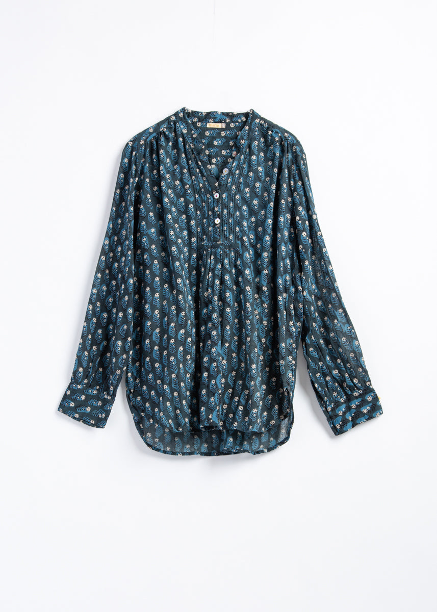 Iride Dabu Top - Natural Indigo