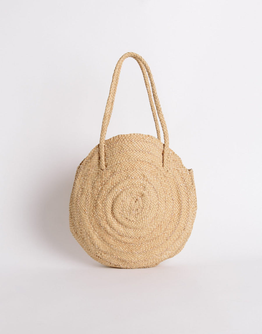 Dragon Round Circle Bag Natural
