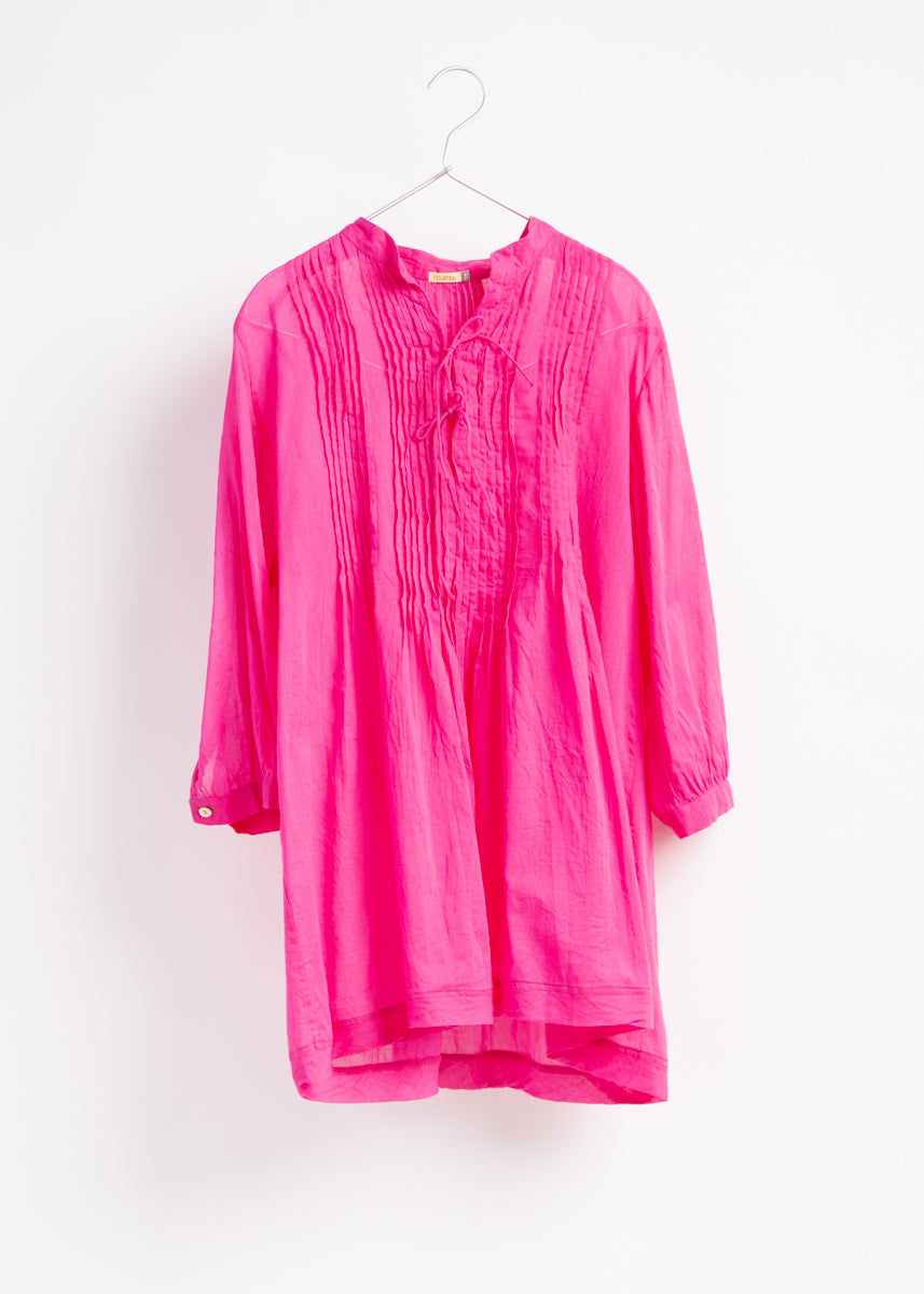 Aditi Cotton Gauze Top, Fuchsia