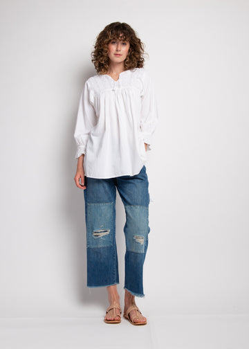 Concha Embroidered Top