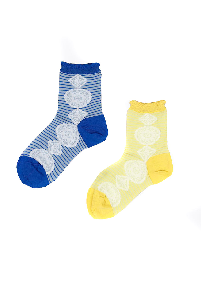 Antipast Stripe Medallion Mid-Socks