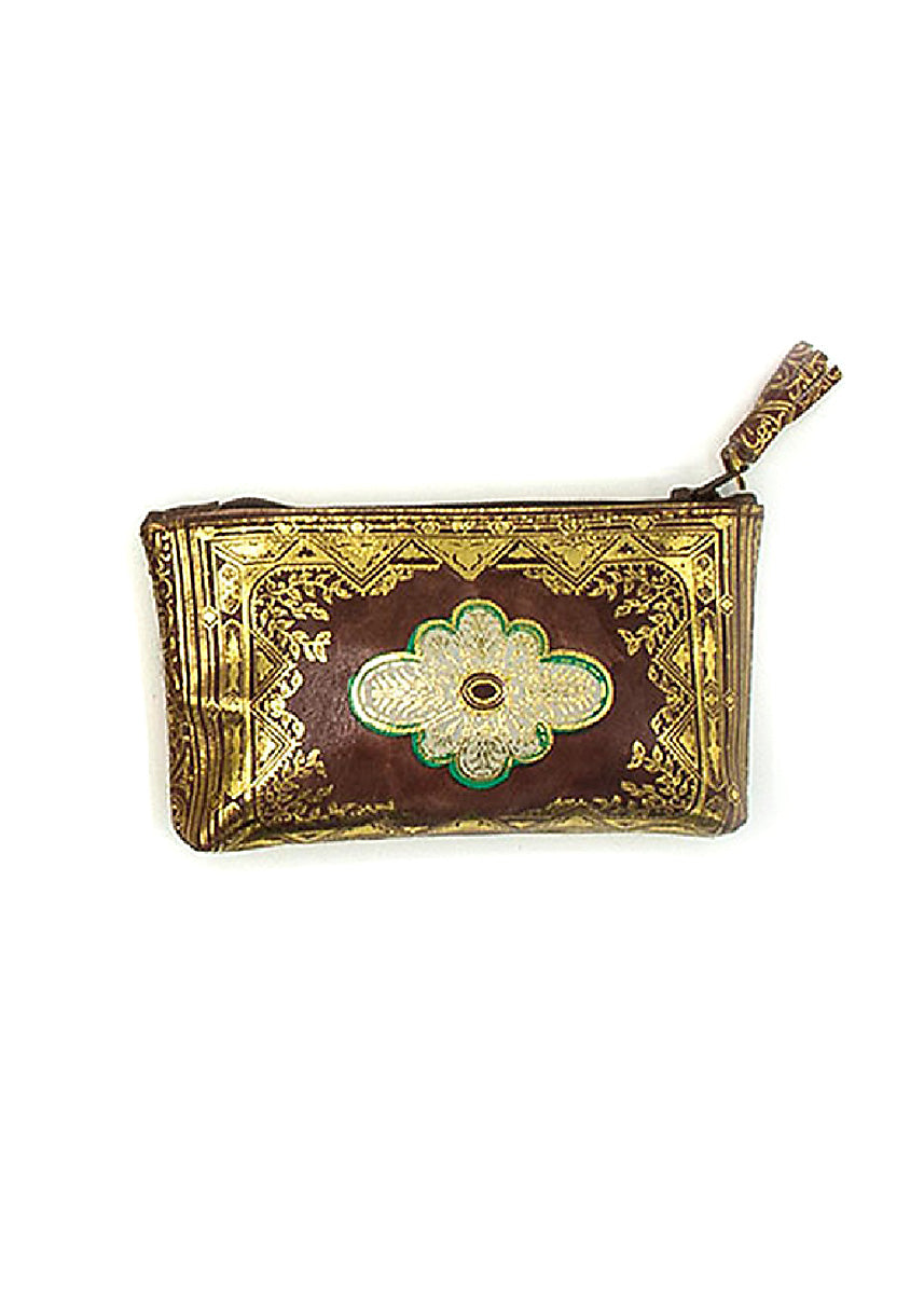 Italian Embossed Coin Purse