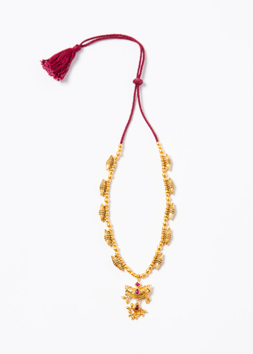 Traditional Necklace #44 Gold Plated