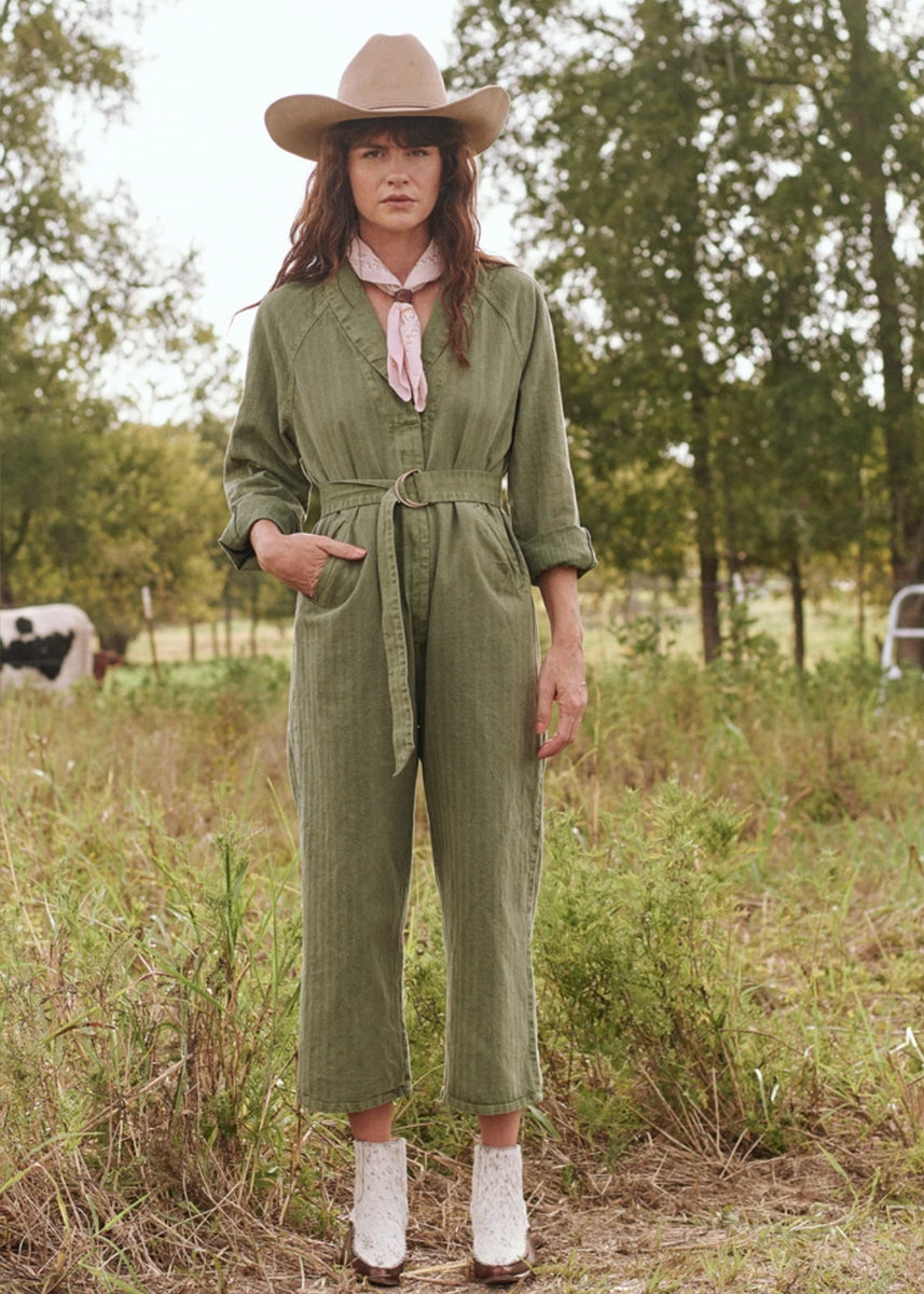 The Great Herringbone Roundtop Jumpsuit