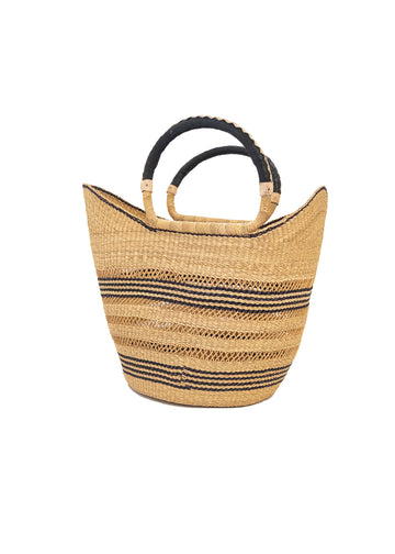 Swahili Black Stripes Shopper