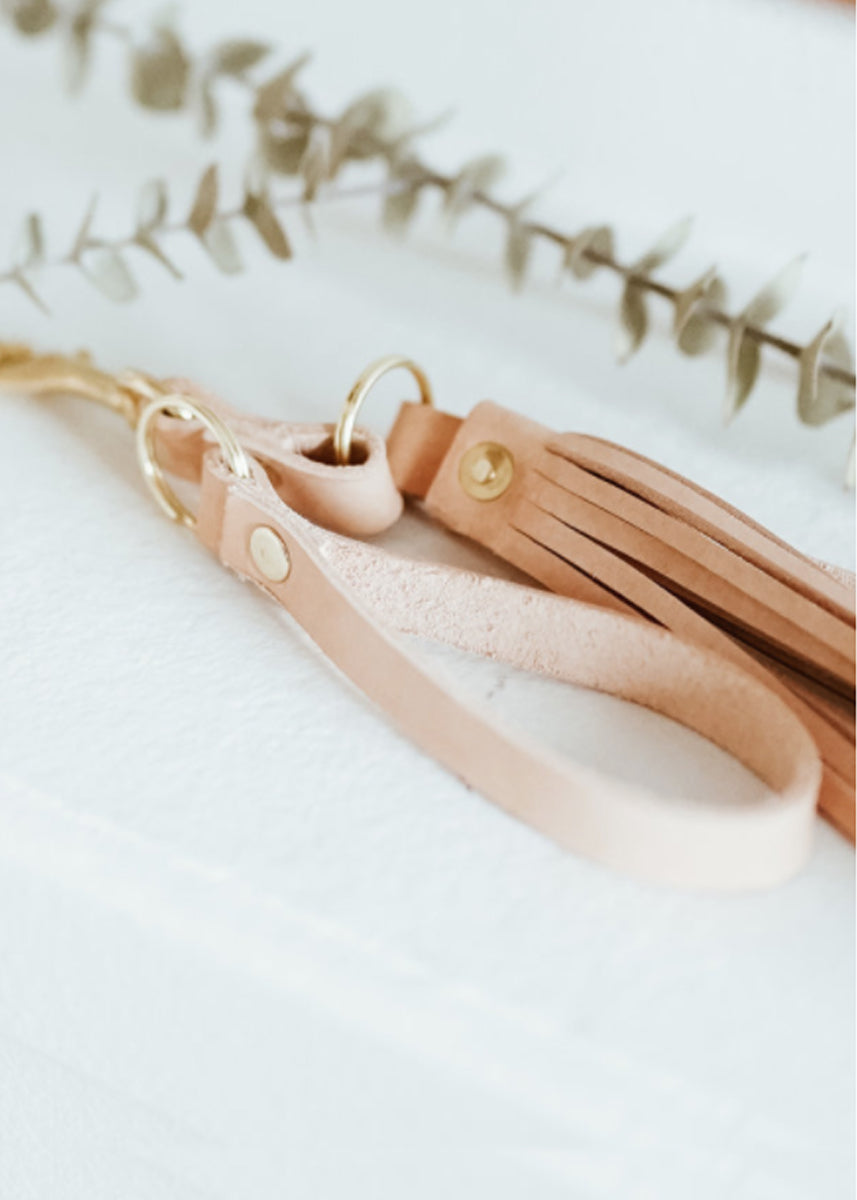 Luna Goods Tassel Key Chain Natural