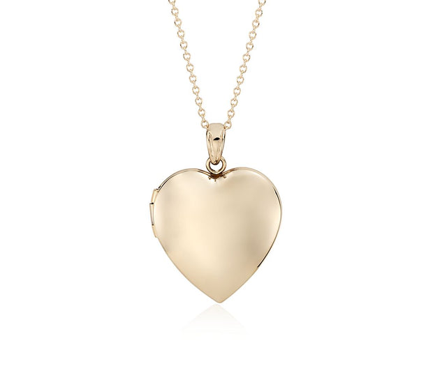 Classic Yellow Gold Heart Locket