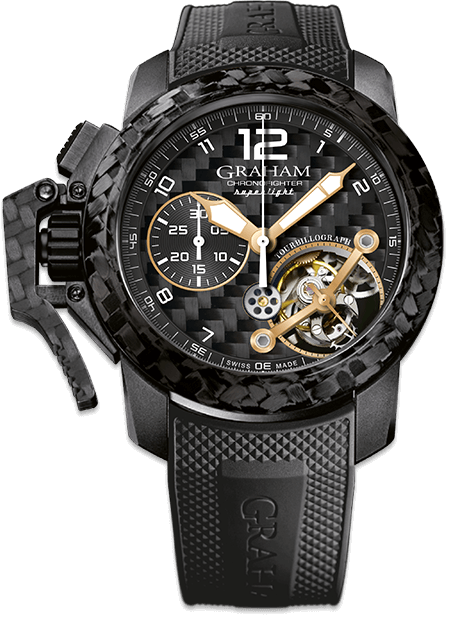 Graham Chronofighter Superlight CARBON SKELETON TOURBILLOGRAPH Limited edition: 100 REF. 2CCBK.B35A
