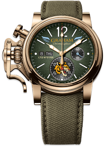 Graham Chronofighter Vintage Special Series BRONZE FLYING TIGERS Ltd Limited edition: 88 REF. 2CVAK.G03A