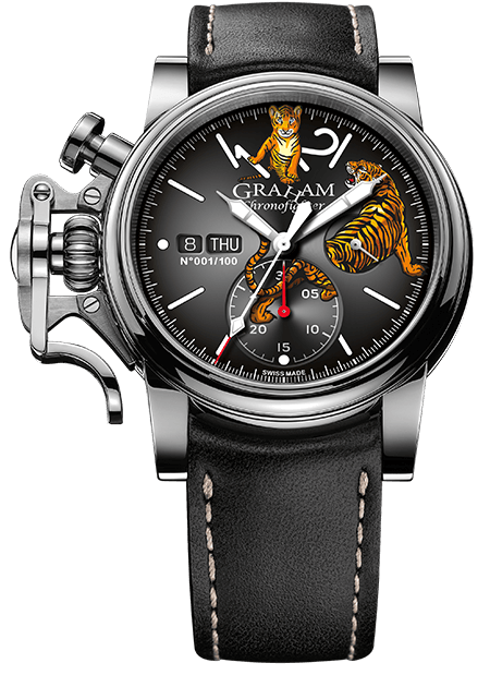 Graham Chronofighter Vintage Special Series VINTAGE LTD - TIGER Limited edition: 100 REF. 2CVAS.B31A