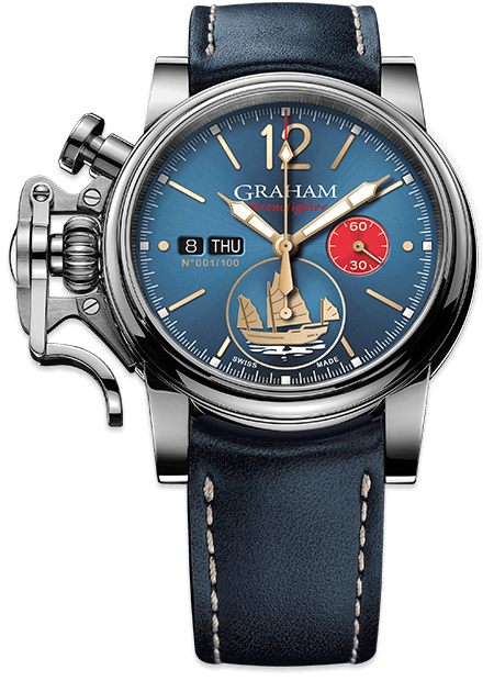 Graham Chronofighter Vintage Special Series VINTAGE LTD - GOLDEN JUNK Limited edition: 100 REF. 2CVAS.U15A
