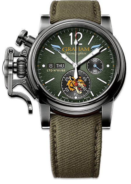 Graham Chronofighter Vintage Special Series FLYING TIGERS Ltd Limited edition: 88 REF. 2CVAV.G03A