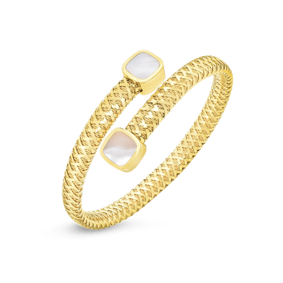 FLEXIBLE WRAP BANGLE WITH MOTHER OF PEARL - 5574017AYBAM