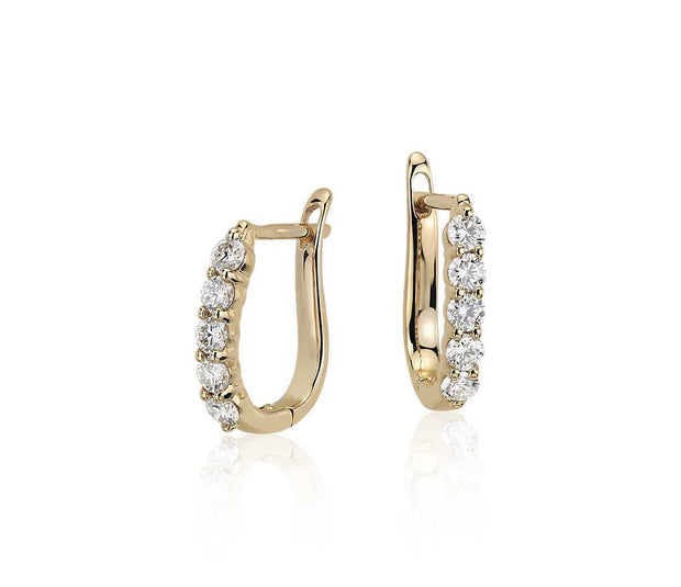 Diamond Hoop Earrings, , Earring, D'Amore Jewelers, D'Amore Jewelers  - 1