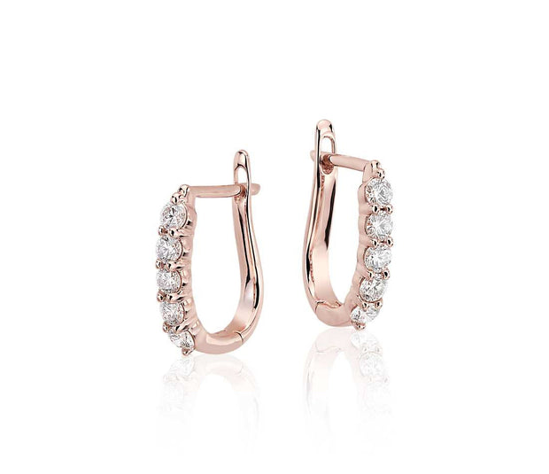 Diamond Hoop Earrings, , Earring, D'Amore Jewelers, D'Amore Jewelers  - 2