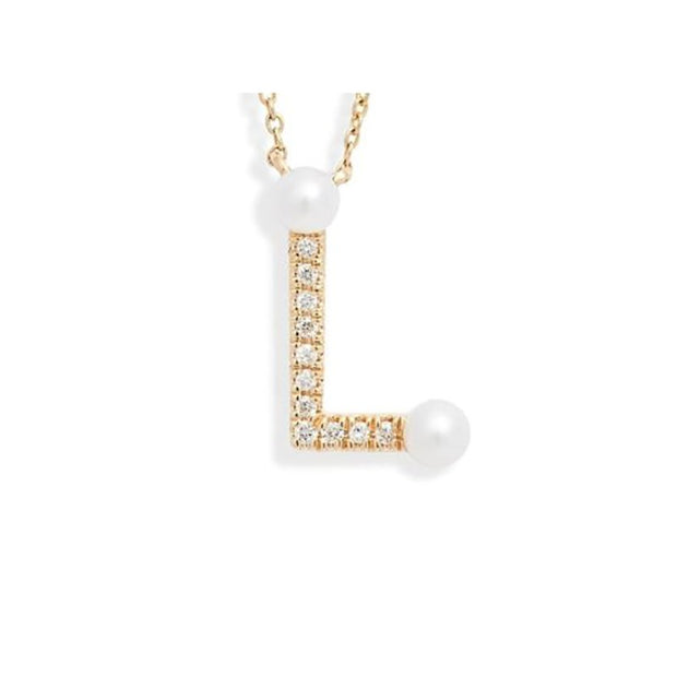 Pearl Initial Pendant Necklace