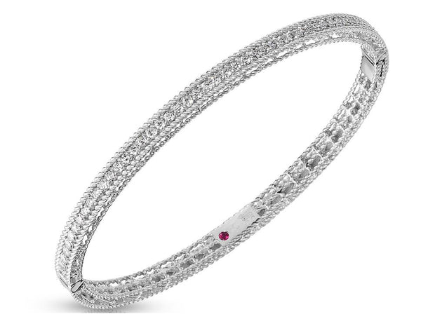 Symphony - Princess Bangle - White Gold, , Bracelet, Roberto Coin, D'Amore Jewelers