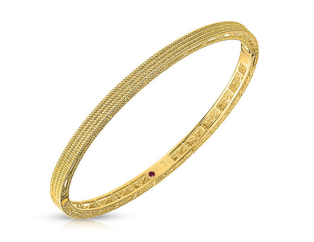 Symphony - New Barocco Bangle- Yellow Gold, , Bracelet, Roberto Coin, D'Amore Jewelers