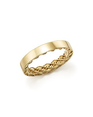 Symphony - Golden Gate Ring- Yellow Gold, , Ring, Roberto Coin, D'Amore Jewelers