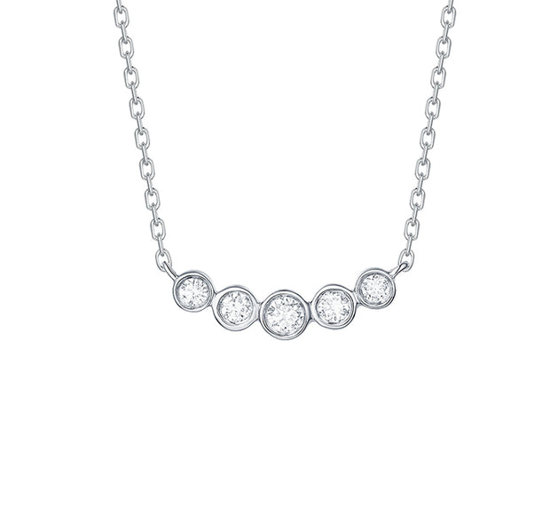 Bubbly Diamond Pendant Necklace