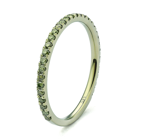 e82f08b63aacca Green Rhodium Gold Stackable Ring - D'Amore Jewelers