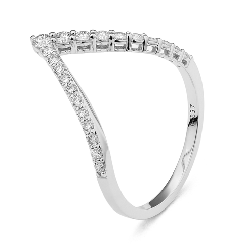 White Gold Stackable Ring