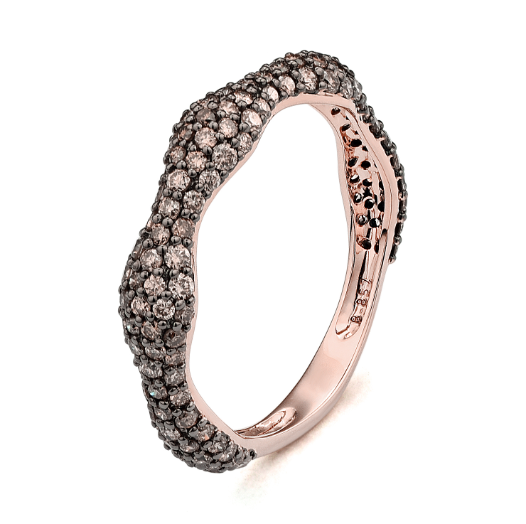 41e9d035fcbb01 Rose Gold Wave Stackable Ring - D'Amore Jewelers