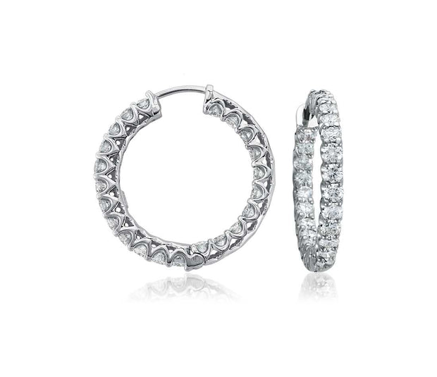 Diamond Hoop Earring  3.00TCW