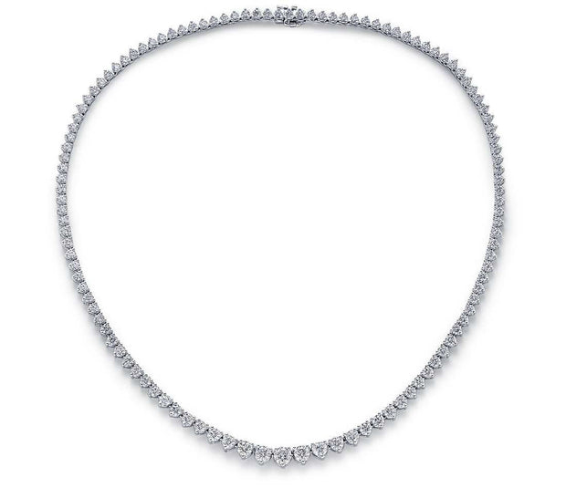 Graduated Round Diamond Necklace, , Necklace, D'Amore Jewelers, D'Amore Jewelers