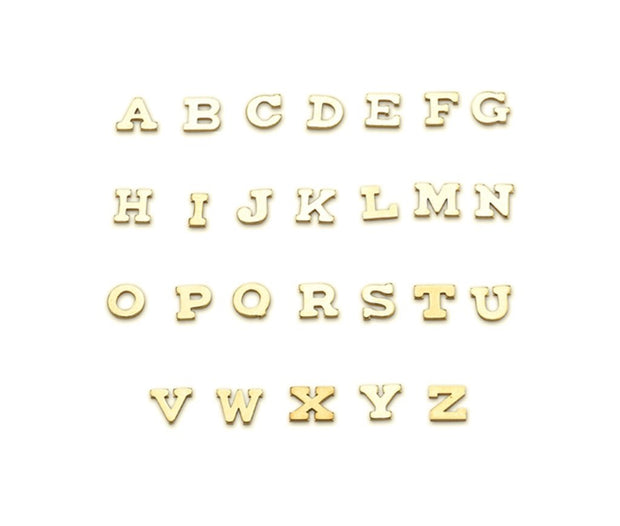 18kt Gold Custom Initial Necklaces