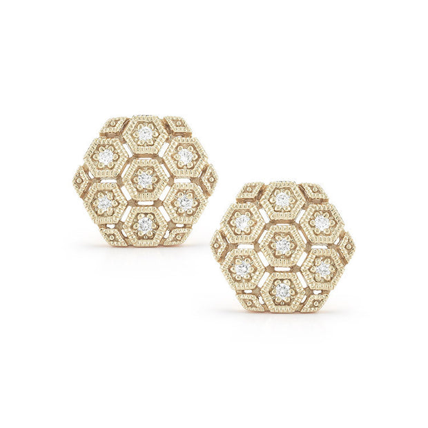 JENNIFER YAMINA DIAMOND STUDS, , Earring, Dana Rebecca Designs, D'Amore Jewelers  - 1