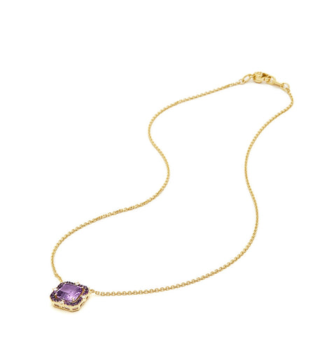 Lila Asscher Cut Lavender Amethyst Pendant Necklace, , Necklace, Judith Ripka, D'Amore Jewelers  - 2