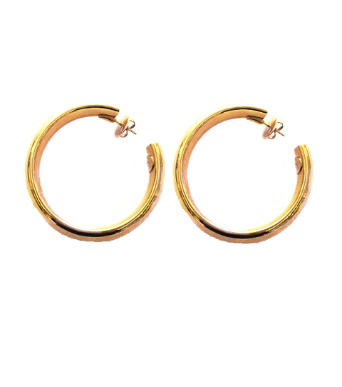 Large Solid Gold Hoop, , Earring, Oromalia, D'Amore Jewelers
