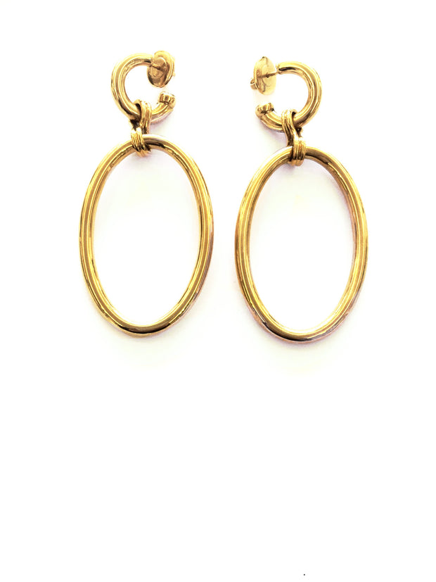 Large Oval Drop Earrings, , Earrings, Oromalia, D'Amore Jewelers