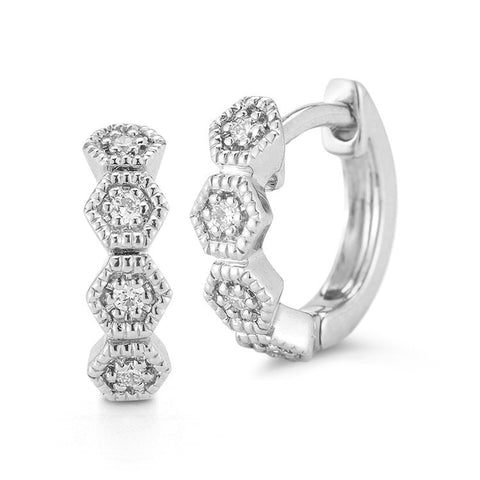 JENNIFER YAMINA DIAMOND HUGGIES, , Earring, Dana Rebecca Designs, D'Amore Jewelers  - 3