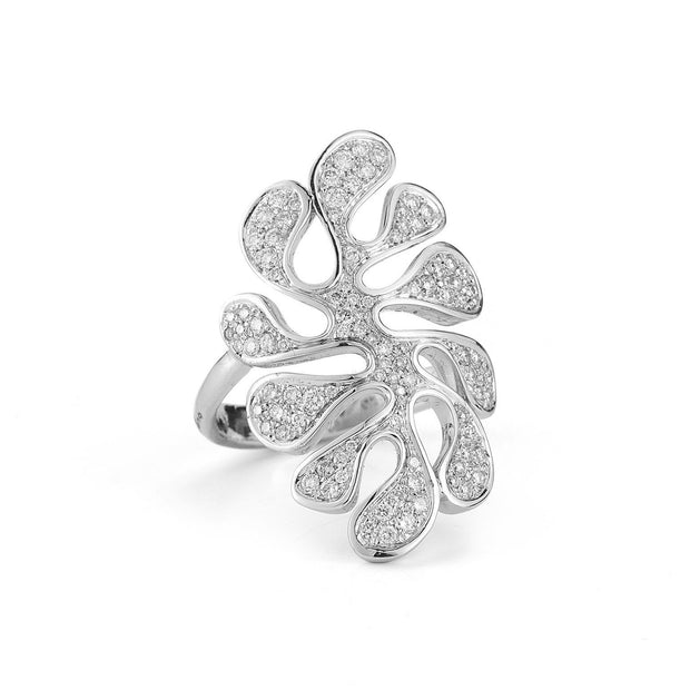 FOGLIA DI MARE RING IN WHITE GOLD, , Ring, Miseno, D'Amore Jewelers