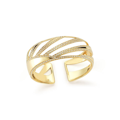 NARROW RAGGI CUFF IN YELLOW GOLD, , Bracelet, Miseno, D'Amore Jewelers