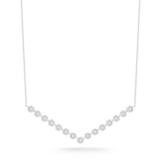 JENNIFER YAMINA V BAR NECKLACE, , Necklace, Dana Rebecca Designs, D'Amore Jewelers