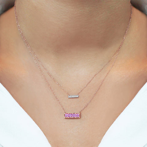 SYLVIE ROSE BAR NECKLACE ROSE GOLD, , Necklace, Dana Rebecca Designs, D'Amore Jewelers  - 2