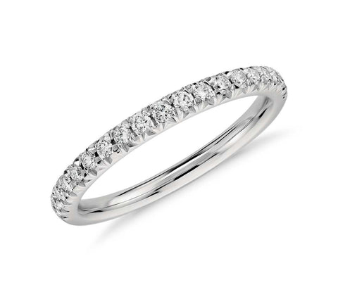 French Pavé Diamond Ring, , Ring, Wedding Bands, D'Amore Jewelers