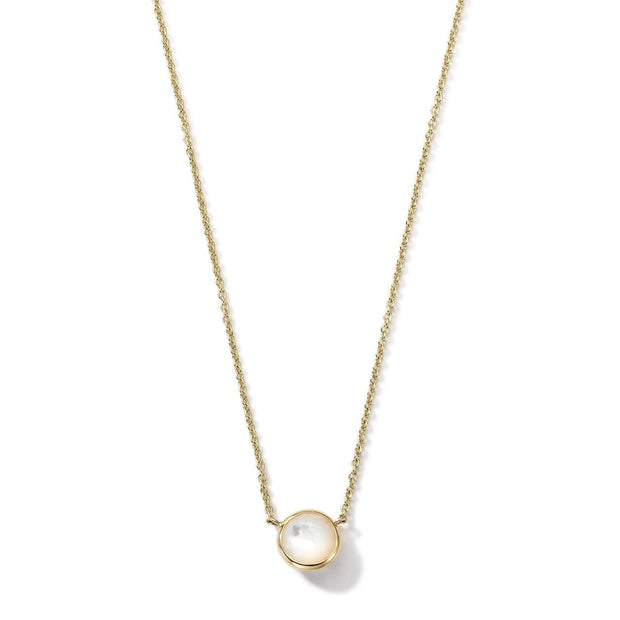 Mini Pendant Necklace in 18K Gold