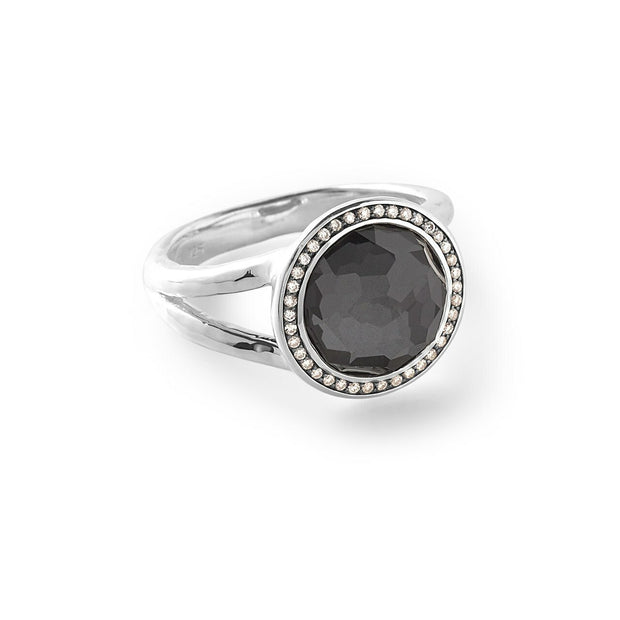 Mini Ring in Sterling Silver with Diamonds