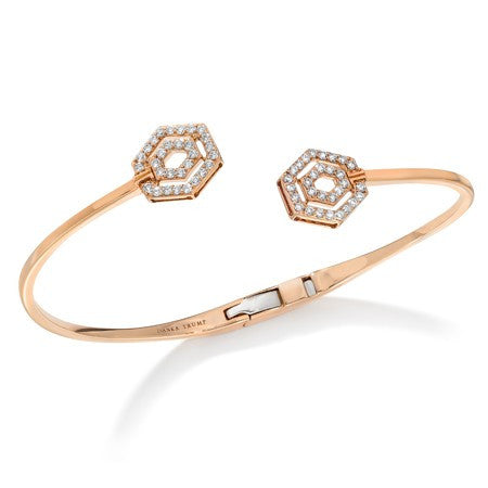 Montmartre Rose Gold Pave Bangle, , Bracelet, Ivanka Trump, D'Amore Jewelers