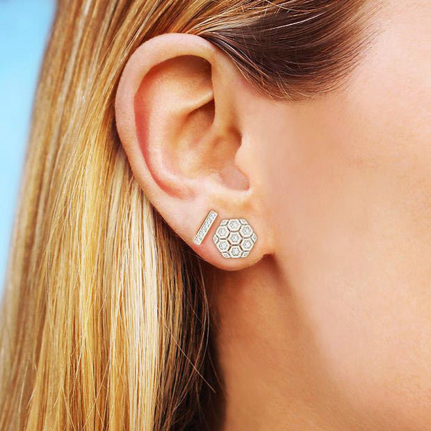 JENNIFER YAMINA DIAMOND STUDS, , Earring, Dana Rebecca Designs, D'Amore Jewelers  - 2