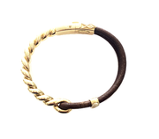 Thin Yellow Gold Twisted Bracelet, , Bracelet, Oromalia, D'Amore Jewelers  - 2